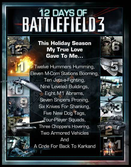 12 Days of Battlefield 3