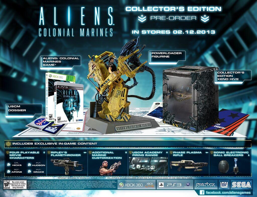 SEGA Shows Off 'Aliens: Colonial Marines Collector's Edition' & Pre-Order Bonuses