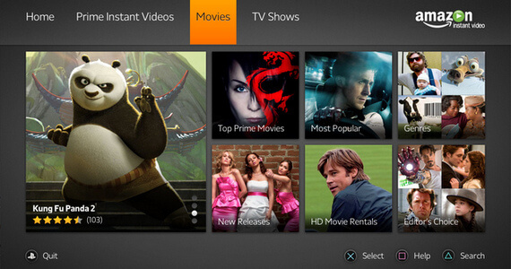 Amazon Instant Video Available Now on PlayStation 3