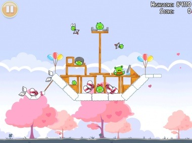 Angry Birds Valentines Day Level