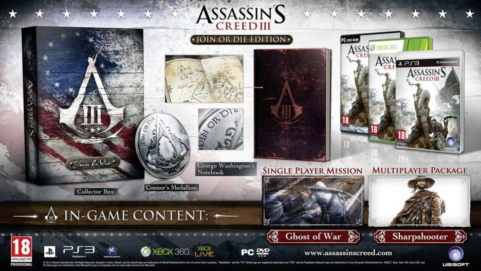 'Assassin's Creed 3' Collector's Editions Detailed
