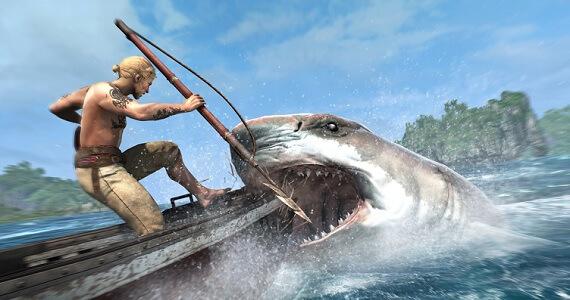 'Assassin's Creed 4' shark attack
