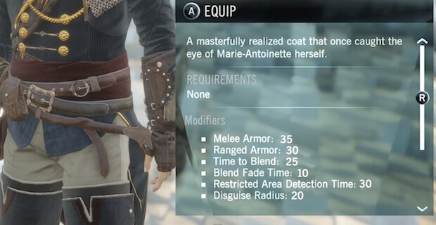 Assassins Creed Unity Character Customization Stats