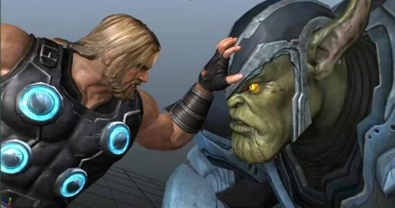 Avengers Game Thor Skrull