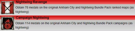 Batman Arkham City Nightwing Achievements