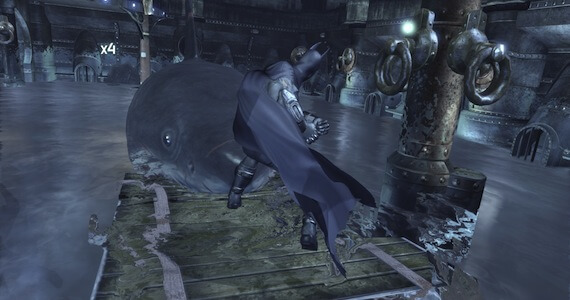 Batman Fights Shark Arkham City