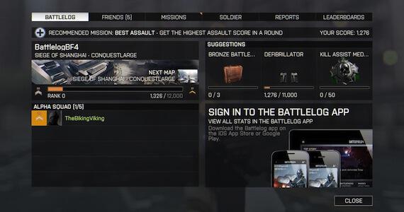 Battlefield 4 Ranking System
