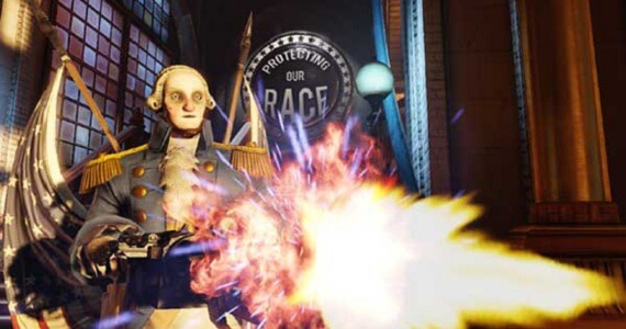 George Washington Wields a Gatling Gun in 'BioShock Infinite'