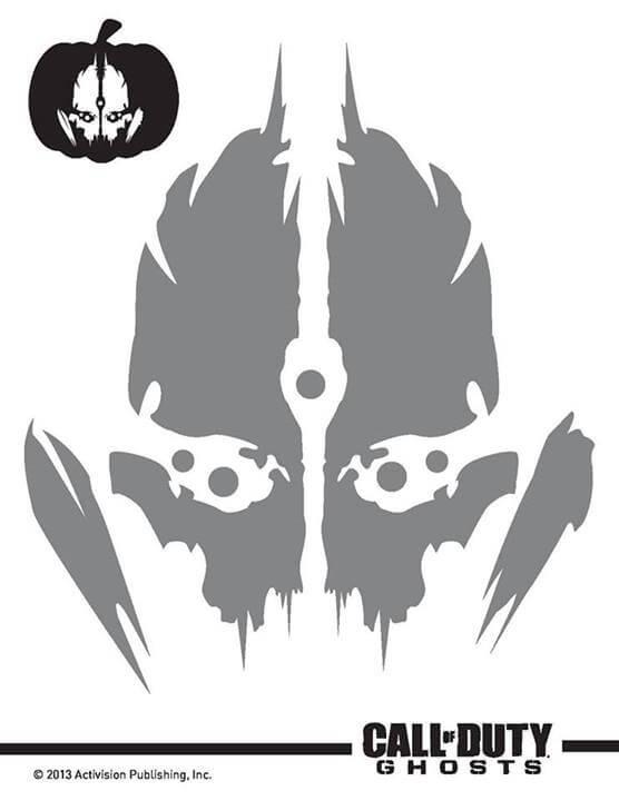 Call of Duty Ghosts Extinction Pumpkin Stencils