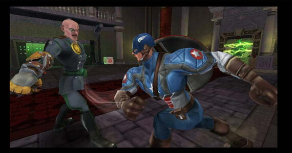 Captain America Fights Von Stokuah