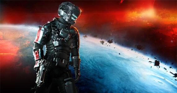 Dead Space 3 Mass Effect armor