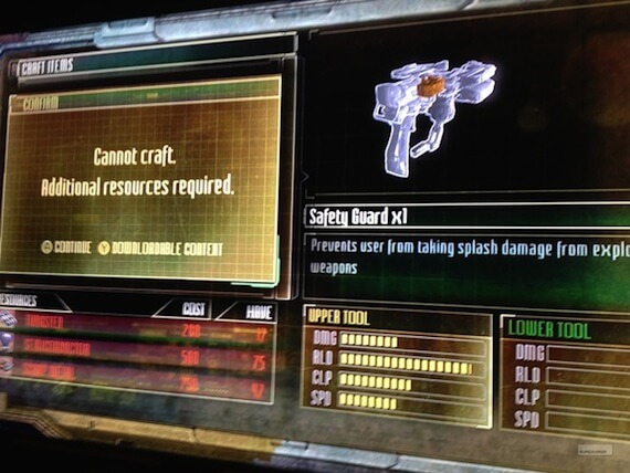 Dead Space 3 Weapon Crafting DLC