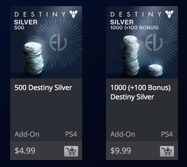 Destiny Silver Eververse