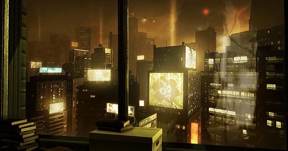 'Deus Ex Human Revolution' - view from Adam's apartment