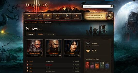 'Diablo 3' Hero Profiles Track Your Progress