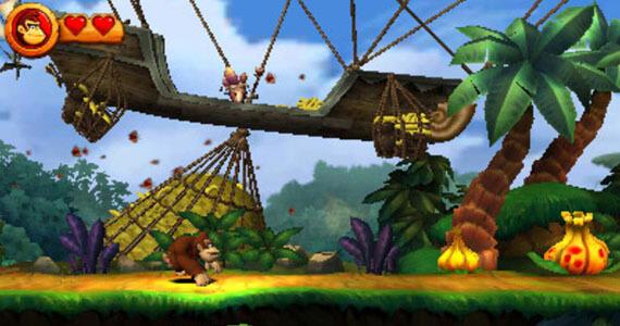 Donkey Kong Country Returns 3D Screenshots
