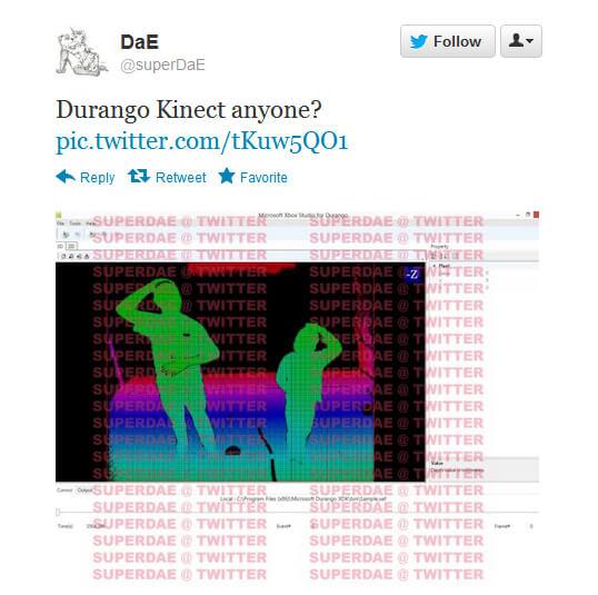Durango Kinect Screenshot
