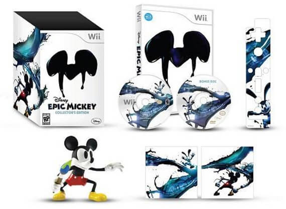 Epic Mickey Collector's Edition Includes Console/Wii-mote Skins