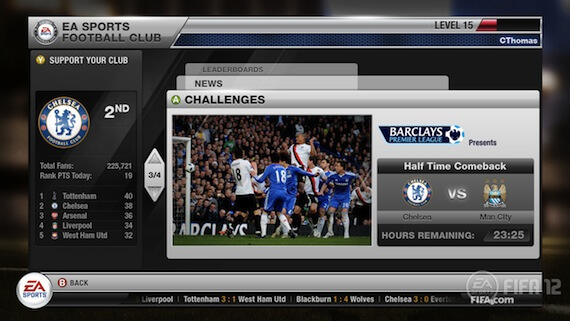 FIFA 12 Review - EA Sports Football Club