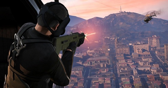 Grand Theft Auto 5 Screenshots Helicopter Shooting