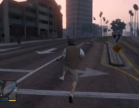 Grand Theft Auto 5 Tap A Sprinting