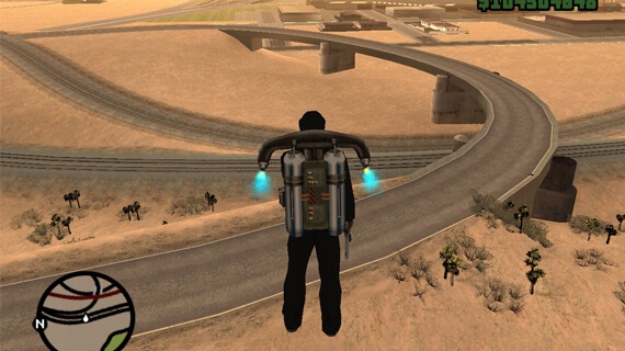 Grand Theft Auto San Andreas Jetpack Vehicle