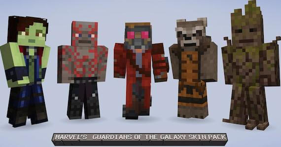 'Minecraft' Releasing 'Guardians of the Galaxy' Skin Pack