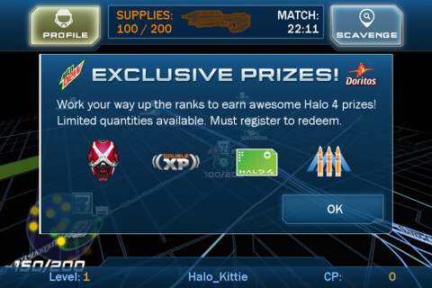 Halo 4 King of the Hill Fuled by Mountain Dew Exclusive Prizes