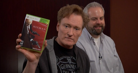 Conan O'Brien Plays 'Hitman: Absolution'