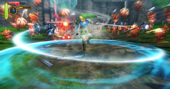 Hyrule Warriors 1 Million Sales Spin Attack