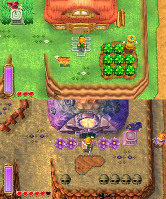 Legend of Zelda: A Link Between Worlds Overworld Comparison