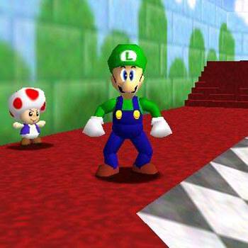 Unlock Luigi in Super Mario 64