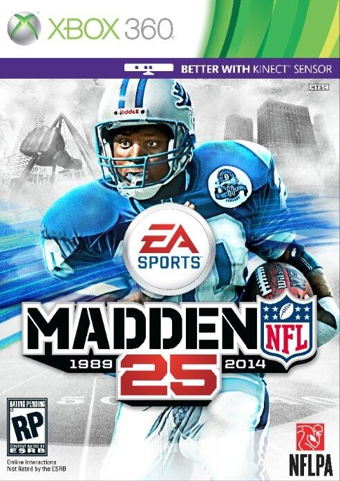Madden NFL 25 Cover Barry Sanders