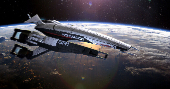 Mass Effect 3 Launches Into Space… Literally