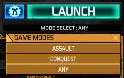 MechWarrior Online Game Modes button
