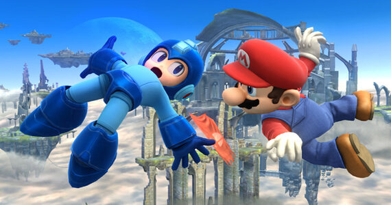 Mega Man Mario Super Smash Brothers Wii U Nintendo Namco Bandai Capcom
