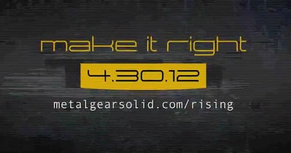 Metal Gear Solid Rising: Revengeance' (Teaser)