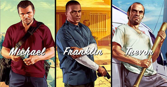 Michael, Franklin and Trevor in 'Grand Theft Auto V'