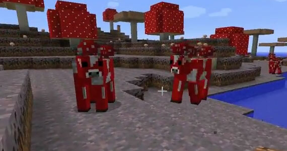 Minecraft 1.9 Update Mooshrooms