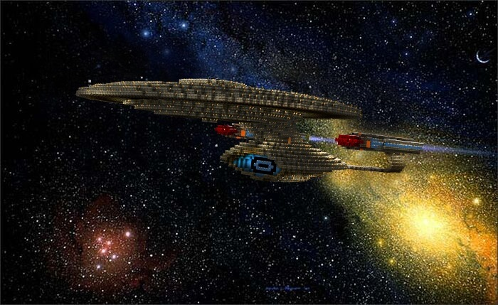 Star Trek's USS Enterprise Recreated Using 'Minecraft'
