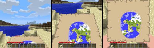 Minecraft Mini-Map Exploring