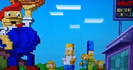 Watch The 'Minecraft' Intro To 'The Simpsons'