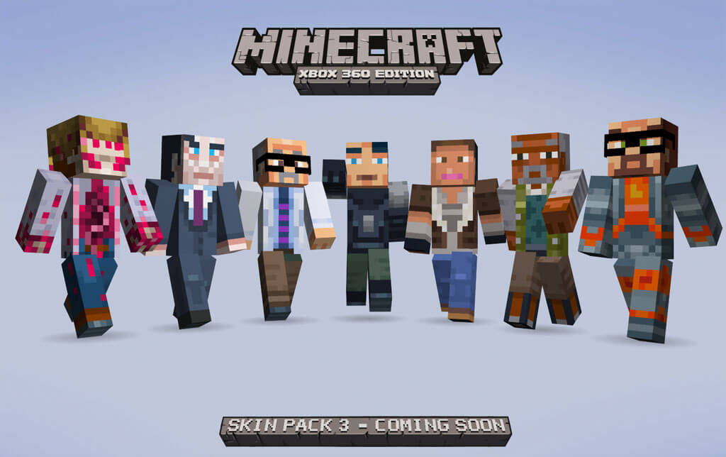 Minecraft: Half-Life and Awesomenauts Skins