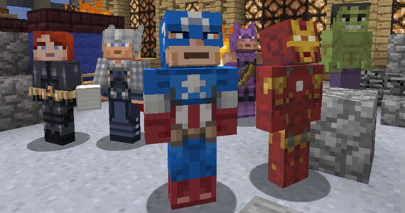 Marvel's Avengers Skins in Minecraft: Xbox 360 Edition