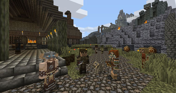 'Minecraft: Xbox 360 Edition' Meets 'Skyrim' in New DLC