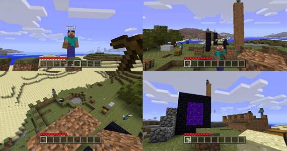 Minecraft for Xbox 360 Multiplayer Screenshots