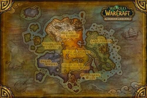 World of Warcraft: Mists of Pandaria Map