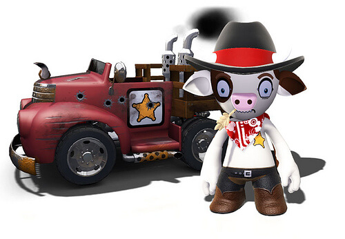 Cowboy is half man, half cow, and half bad-ass. Careful or he'll turn you into ground beef!
