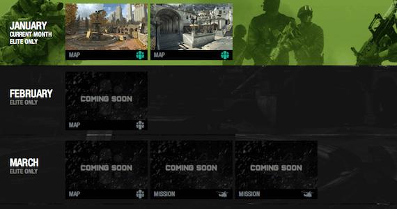 Modern Warfare 3 Elite Premium DLC Schedule
