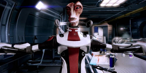 Mordin singing Gilbert and Sullivan (Mass Effect 2)